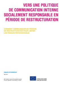 Vers une politique de communication interne socialement responsable en période de restructuration