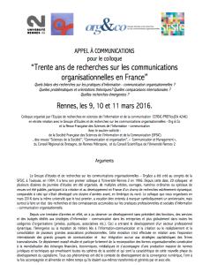 Appel à communications : Trente ans de recherches sur les communications organisationnelles en France