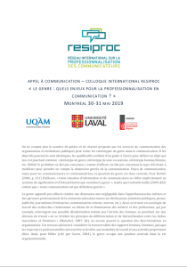 Appel à communication : colloque 2019.